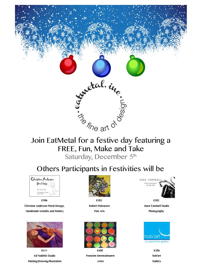 EatMetal Holiday Event Postcard
